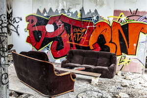 Normandie - Urbex - Filature - Tag en salon